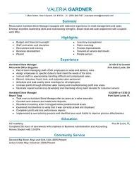 retail management resume best retail assistant manager resume exle livecareer