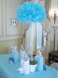 simple baby shower center pieces but w drops coming to compliment the