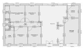 plan plain pied 4 chambres plan maison 4 chambres plain pied gratuit plan maison chambres