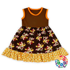 Thanksgiving Dress Baby Thanksgiving Day Dresses Baby Summer Sleeveless Cotton Turkey