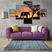 compare prices on elephant painting tree online shopping buy low 2017 newest christmas decorations for home s l size 5 panel modern printed 3 elephants
