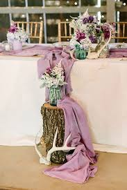 wedding reception table ideas swoon worthy rustic chic purple wedding decor mon cheri bridals