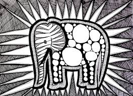 difficult elephant animals coloring pages for adults justcolor