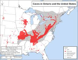 Map Of Tri State Area Eastern Small Footed Myotis Recovery Strategy Ontario Ca
