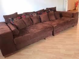 schn ppchen sofa absolutes schnäppchen riesiges lounge sofa braun inkl kissen in