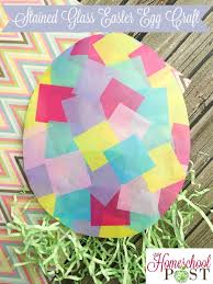 stained glass easter egg craft the homeschool post