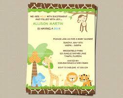 safari theme baby shower invitations template best template