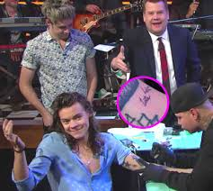 harry styles plays tattoo roulette on live tv gets new u201clate late