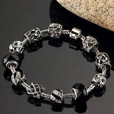black silver pandora bracelet images Pandora black charm bracelet avanti court primary school jpg