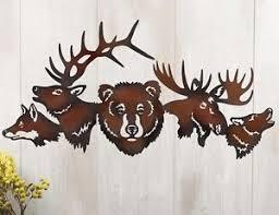 moose metal art ebay