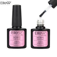 cure nail polish with uv l elite99 soak off no wipe top coat uv gel nail polish sealer no