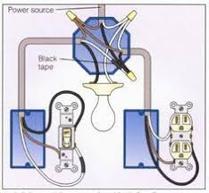 wiring a light switch and outlet together diagram wiring outlets and lights on same circuit google search diy