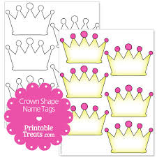 printable name tags free printable crown name tags printable treats