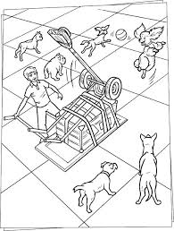 dog fetch machine coloring pages hellokids com