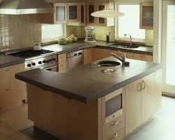 pictures of concrete countertops in kitchen simple and durable