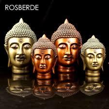 rosberde resin india buddha statue head home decor statue
