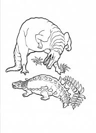 ankylosaurus fight rex colouring happy colouring