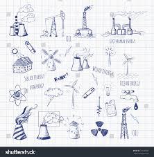 pen sketches oil rigs oil platforms stock vector 181425047