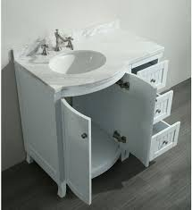 Inch Bathroom Vanity White Carrera Marble Top - Carrera marble bathroom vanity