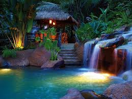waterfalls waterfall night little beautiful scenery pictures for