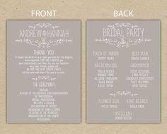 sle wedding programs templates free rustic wedding program order of ceremony ceremony program order