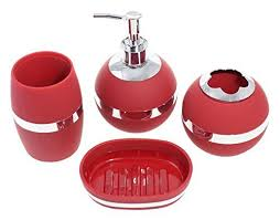 Red Bathroom Accessories Sets by Red Bathroom Amazon Com