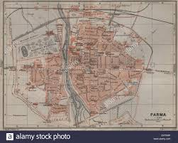 Parma Italy Map by Parma Antique Town City Plan Piano Urbanistico Italy Mappa Stock