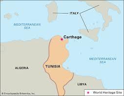 tunisia on africa map carthage ancient city tunisia britannica