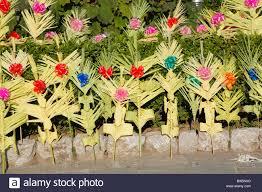 decorations on sale palm sunday palermo sicily italy stock