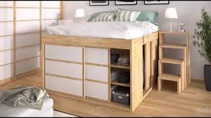 placard chambre adulte idée déco chambre lit armoire lit surélevé