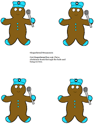 gingerbread ornaments for sunday