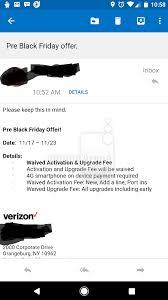 verizon black friday phone deals verizon fees to be waived starting november 17 pocketnow