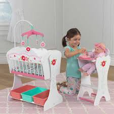 Baby Doll High Chair Set Kidkraft Sweet Roses Doll Furniture Set