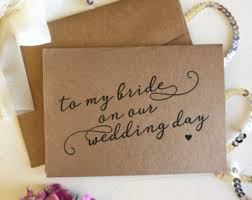 To My Bride On Our Wedding Day Card To My Beautiful Bride On Our Wedding Day Card Bride Wedding