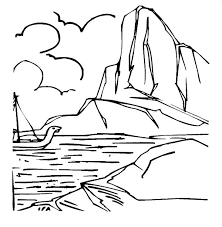 brave sailor passing iceberg coloring pages bulk color