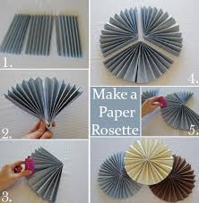 how to make a paper fan how to make a rosette backdrop