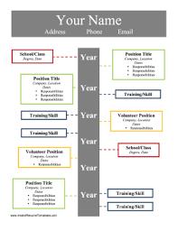 Timeline Resume Template timeline resume template