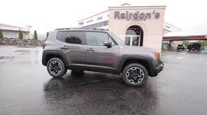 gray jeep renegade interior 2016 jeep renegade trailhawk crystal metallic gpd40646