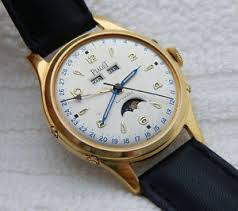 piaget automatic vintage piaget automatic date moon phase large 37 1mm gold
