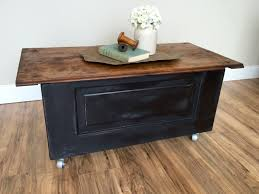 rustic coffee table with storage coffee table storage chest trunk rustic coffee table wood and metal
