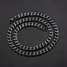 titanium curb chain necklace images Crucible polished stainless steel curb chain necklace 9mm 24 jpg