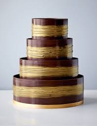 shimmering hoop chocolate wedding cake dark u0026 gold m u0026s