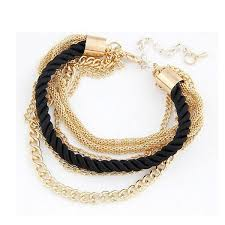 gold braided rope necklace images Handmade gold colored chain braided rope multilayer bracelet jpg