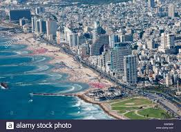 aerial photography of tel aviv israel the yarkon river and park