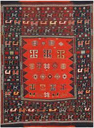 Red Tribal Rug Tribal Antique Shasavan Caucasian Rug 48239 By Nazmiyal