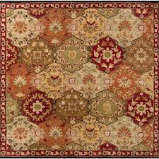 artistic weavers john red 8 ft x 8 ft square area rug jhn 1034