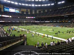 mercedes dome orleans mercedes superdome section 134 seat views seatgeek