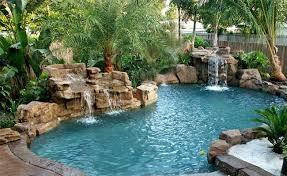 rock waterfalls for pools swimming pool rock slides florida swimming pool waterfalls