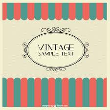 vintage design vintage design free template vector free vector in ai