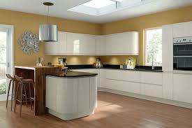 wren kitchens handleless cream gloss kitchen